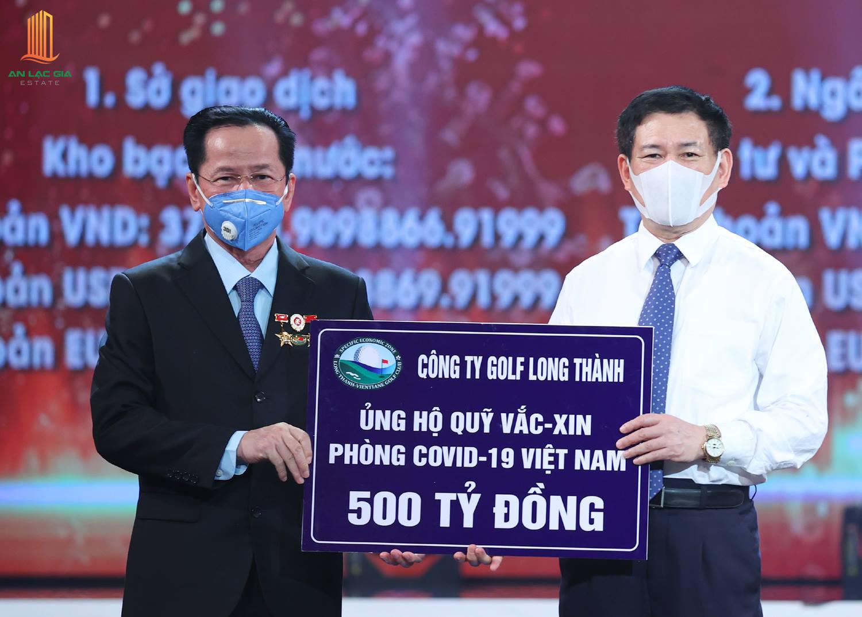 Golf Long Thành ủng hộ 500 tỷ cho quỹ Vắc Xin Covid 19